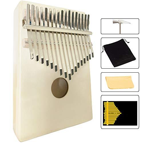 Luvay Kalimba 17 key Thumb Piano, Solid Mahogany Body