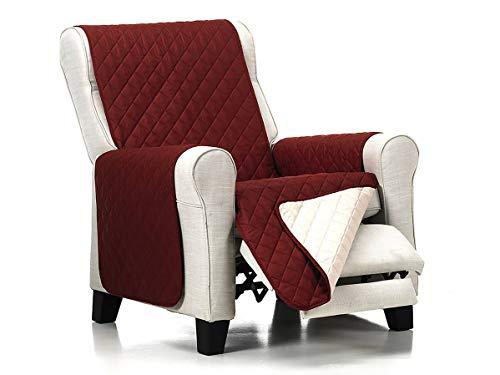 Lanovenanube Belmarti - Funda sillón Acolchado - Práctica - 1 Plaza - Color Rojo C05