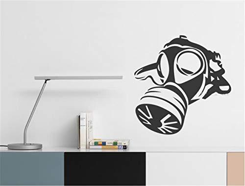 Decoratieve militaire gasmasker voor jongens, tieners, kamer-legering, creatief wandsticker, voor de kinderkamer, wandsticker, slaapkamer 42.7x42.7 cm