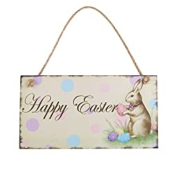 Easter Wood Hanging Plaque