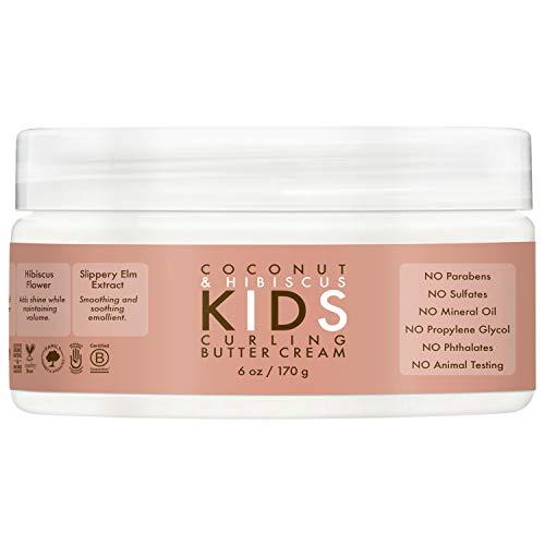SheaMoisture Kids crema de mantequilla rizadora de coco e hibisco, 6 onzas