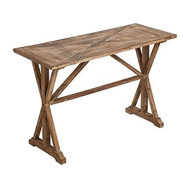Cape Craftsmen Urban Farmhouse Triangular Inlay Fir Wood Entryway Table