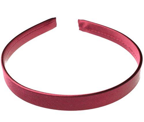 Satin Headband Alice Band Thin Satin Soft Hair Band Craft Headbands Hair Burgundy by Cherry-on-Top
