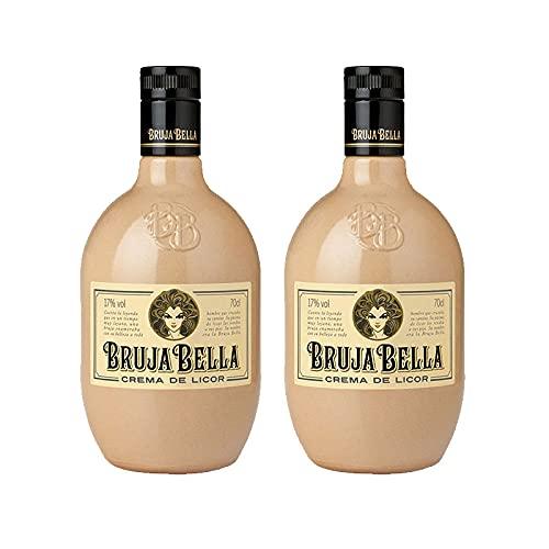 Crema de Licor Bruja Bella de 70 cl - Elaborado en A Coruña - Bodegas Grupo Caballero (Pack de 2 botellas)