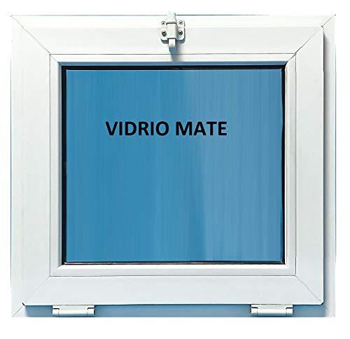 ECO-BLU (V23M) Ventana Pvc Abatible Golpete Climalit Mate, blanco, 600x600mm