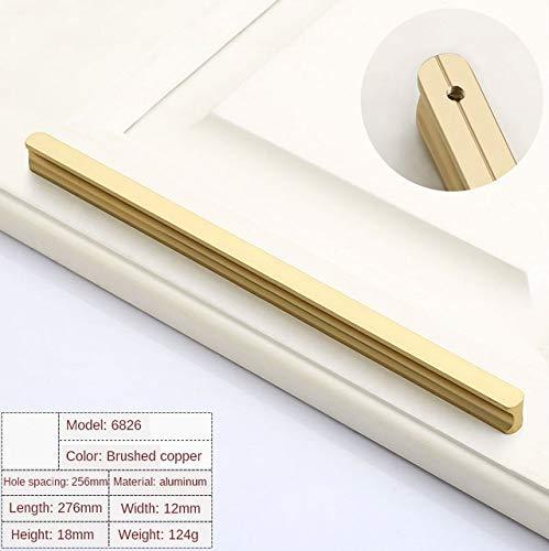 DFG Handle Modern Golden Wardrobe Handle Aluminum Profile Wine Cabinet Door Handle Drawer Black Lengthened Handle Furniture Hardware