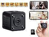 Mini Cámara Espía Oculta | Camara WiFi Full HD 1080p | con Detección de Movimiento | Mini Camara de Seguridad Portátil | con Visión Nocturna para Vigilancia Interior, Exterior. Cuadrada