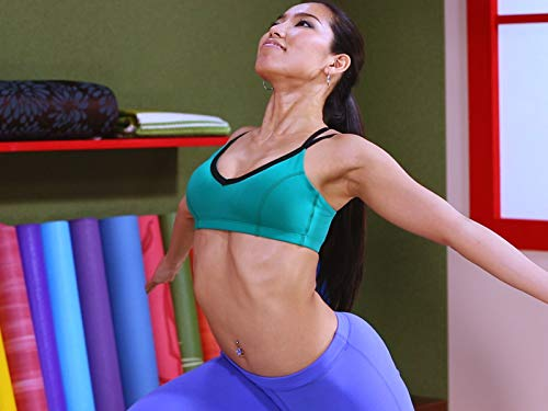 Warrior 1 pose with arms wide   power yoga weight loss