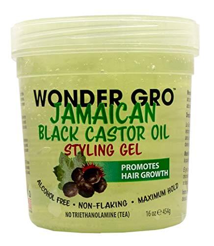 Wonder Gro Jamaican Black Castor Oil Hair Styling Gel (Pack of 2)