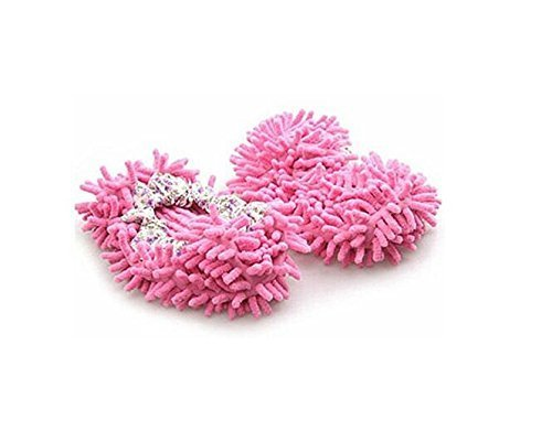 Lyanther Chaussons à vadrouille Chaussures Comforable Nettoyant pour sols, Rose