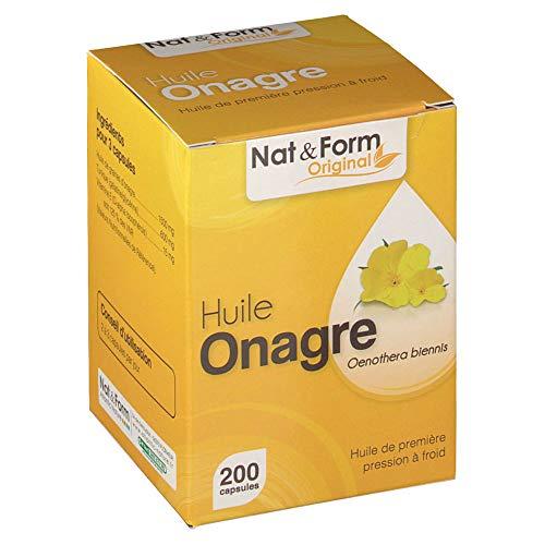 Nat & Form - Huile D onagre 200 Capsules Antioxydant Nat&form