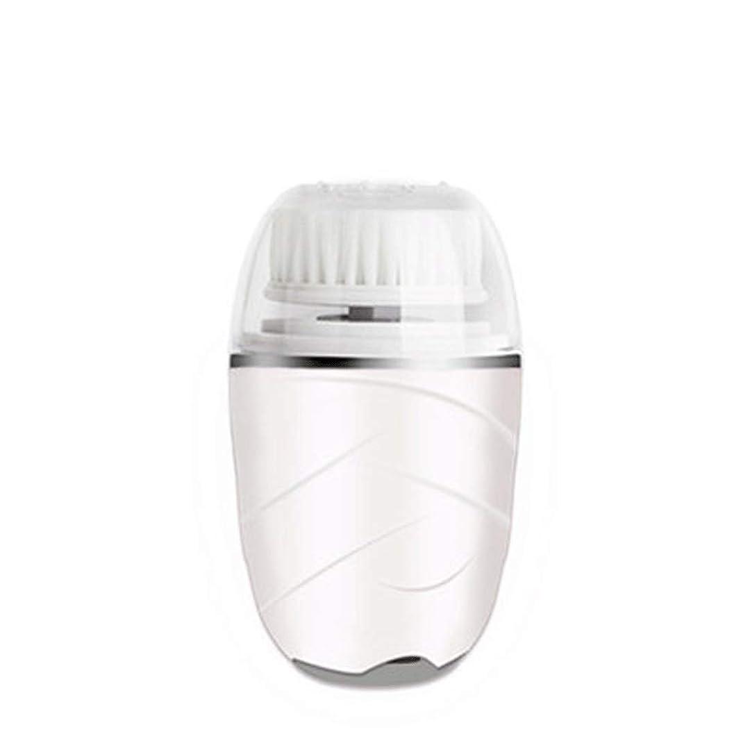 プラグ早熟図HEHUIHUI- クレンジングブラシ、防水ディープクレンジングポア、電気剥離、にきび、アンチエイジングクレンジングブラシ(ピンク) (Color : White)