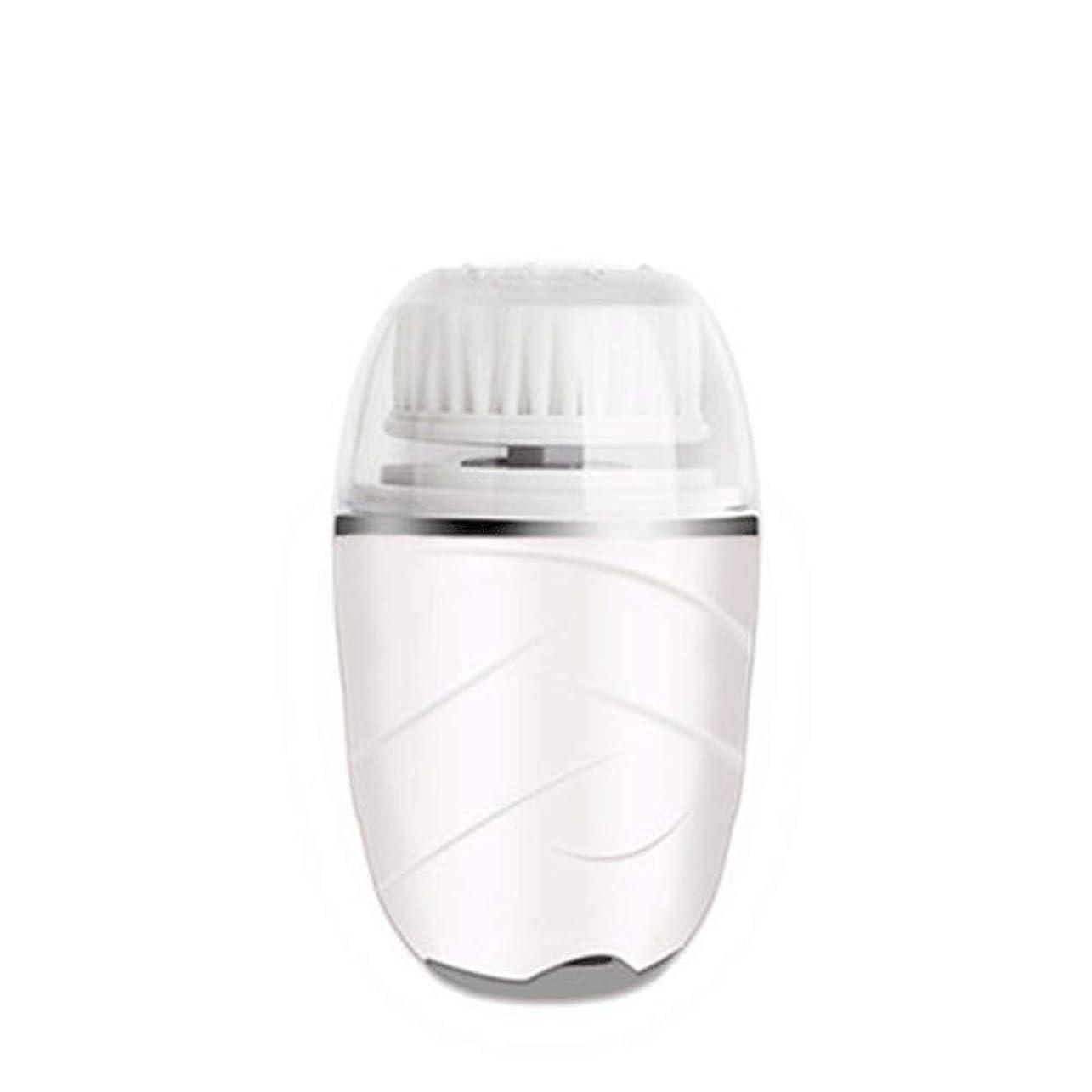 侵略落ちたリスHEHUIHUI- クレンジングブラシ、防水ディープクレンジングポア、電気剥離、にきび、アンチエイジングクレンジングブラシ(ピンク) (Color : White)
