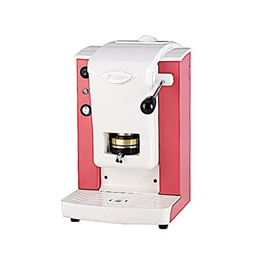 Faber Italia Faber Slot Plast Macchina da Caffè a Cialde 44 MM ESE - Colore Rosso Rubino con finiture Grigio