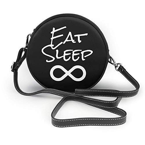 Eat Sleep Infinity - Bolso bandolera de piel para mujer