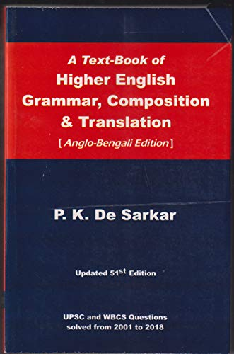 A Text-Book of Higher English Grammer, Composition & Translation(Anglo-Bengali)