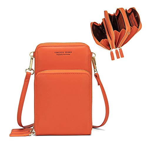 Myfriday Small Crossbody Cellphone Shoulder Bags for Women,Smartphone Wallet Purse