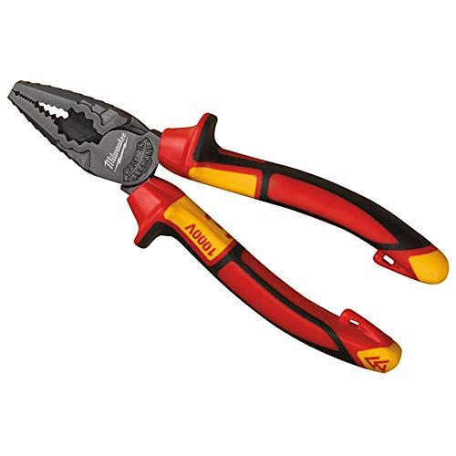 Milwaukee 932464571 VDE - Alicates combinados (165 mm), color rojo