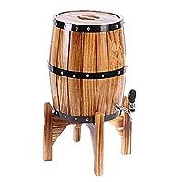 3Lオークエージングバレル、生ビール、ウイスキー用ステンレススチールライニング付き垂直ワインバレル,Brown