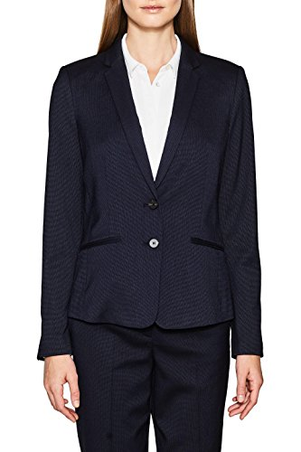 ESPRIT Collection Damen 107EO1G025 Blazer, Blau (Navy 400), 38