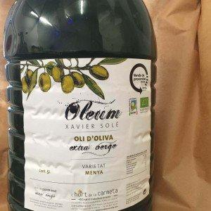 ACEITE DE OLIVA VIRGEN EXTRA ARBEQUINA ECOLOGICO 5 LITROS