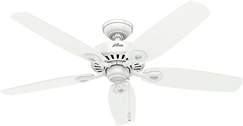 """wholesale Hunter Builder Elite Indoor Ceiling Fan with Pull Chain Control, 52"""", high quality Snow White discount finish sale"""