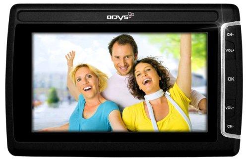 Odys Multi Pocket TV 430 Tragbarer Fernseher (10,9 cm (4,3 Zoll) TFT LC-Display, SD-Kartenslot, MP3-/Video-Player) schwarz