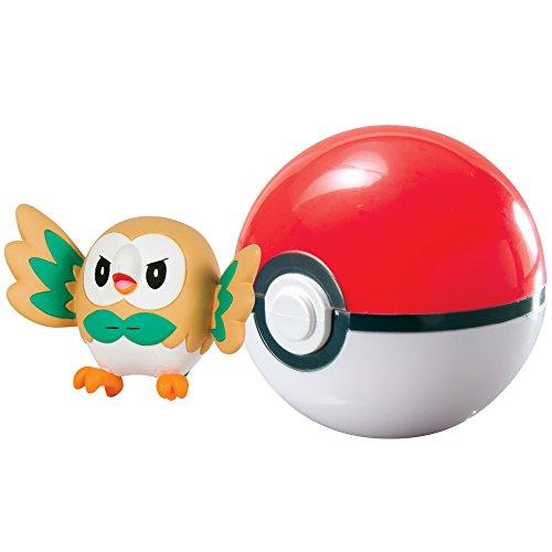 Pokémon Clip n Carry Poké Ball, Rowlet and Poké Ball