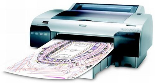 Epson Stylus Pro 4450 Tintenstrahldrucker (Format DIN A2+/431.8 mm (17 Zoll), 1440 x 720dpi, 4-Farben)