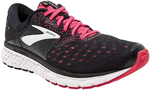 Brooks Womens Glycerin 16 Running Shoe - Black/Pink/Grey - 2A - 8.5