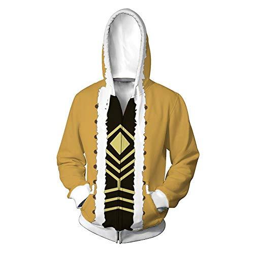 Hawks Cosplay Hoodie My Hero Academia Keigo Takami Sweatshirt Halloween Costume 3D Jacket (X-Large, Color 1)