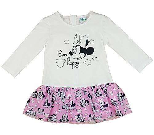 Disney Baby Mädchen Lang-arm Freizeit-Kleid mit schönem Rock mit Minnie Mouse in Gr. 74 80 86 92 98 104 110 116 122,1 2 3 4 5 6 7 Jahre Farbe Modell 2, Größe 74