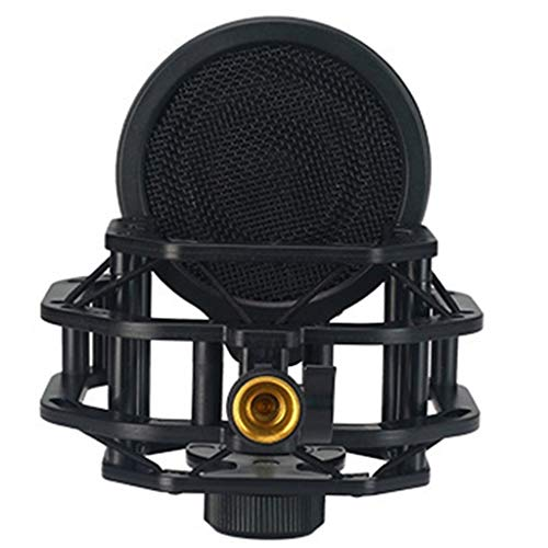 JYDQM Recording Studio Microphone Stand Shock Mount for Computer Condenser Mic Holder Metal Shockmount Bracket