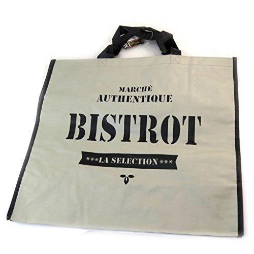 Les Trésors De Lily [N2701] - Einkaufstasche 'Bistrot' grau - 45x40x20 cm.