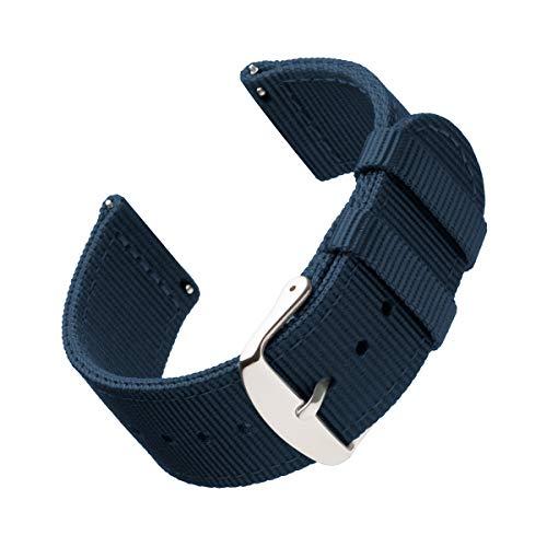 Archer Watch Straps | Repuesto de Correa de Reloj de Nailon para Hombre y Mujer, Correa Fácil de Abrochar para Relojes y Smartwatch | Azul Marino, 22mm