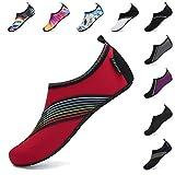 SAGUARO Zapatillas unisex descalzo para hombre y mujer, de secado rápido, para actividades al aire libre, color Rojo, talla 36/37 EU