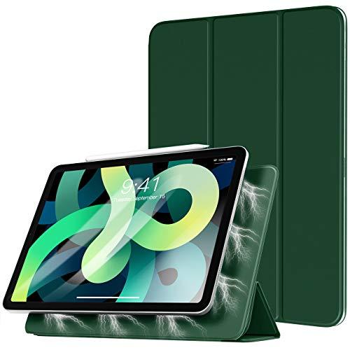 TiMOVO Funda Compatible con Nuevo iPad 10.9 Inch, iPad Air 4.ª Generación 2020, Absorción Magnética Cubierta Ligero Inteligente Funda, con Auto Sueño/Estela - Verde Noche