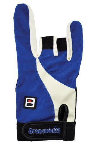 Brunswick Power X - Guante de Bolos, Color Negro/Azul, Talla XXL/Right Hand