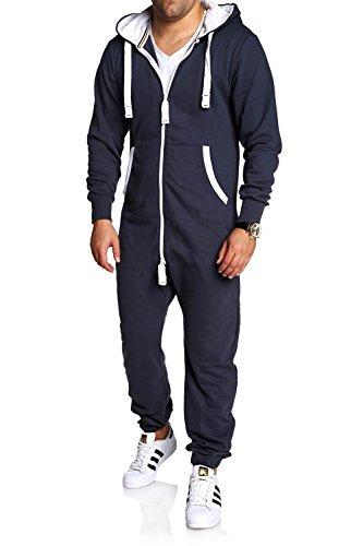 MT Styles Jumpsuit Jogger Jogging Anzug MJ-2154 [Dunkelgrau, S]