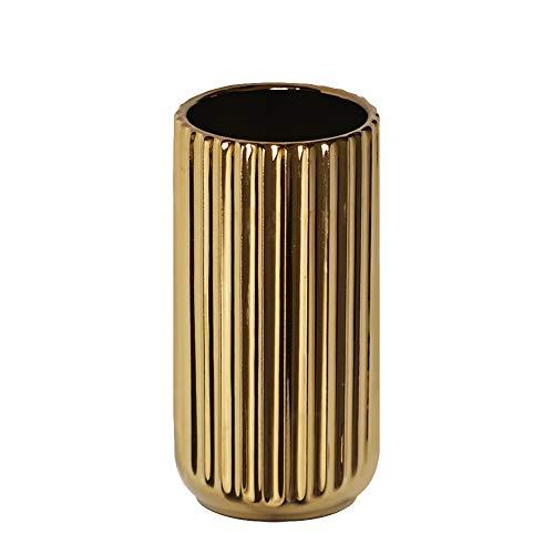 HCHLQLZ 18CM Gold Vase Keramik Vasen Blumenvase Deko Dekoration