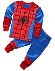 イチゴガール スパイダーマン パジャマ 男の子 長袖 子供服 ギフト プレゼント 130