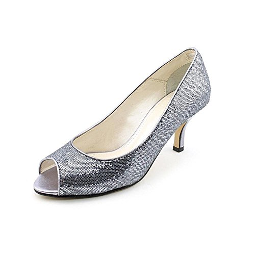 Caparros Womens Denver Peep Toe Classic Pumps, Charcoal, Size 8 M