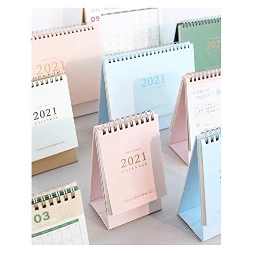 Calendario de Pared 2021 Calendario YXY-Tech 2021 de escritorio Calendario de escritorio 2021 Símbolo de estilo chino la paz auspiciosa Calendario de notas Diy Calendario mensual anual