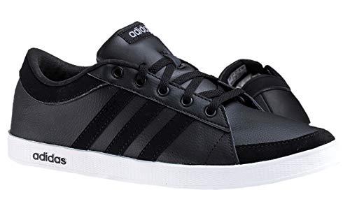 Adidas CALNEO Laidback Lo Schuhe Herren Lederschuhe Sneaker Schwarz (40 2/3 EU, Schwarz, Fraction_40_and_2_Thirds)
