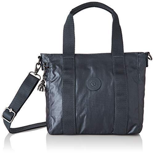 Kipling ASSENI Mini, Top-Handle Bags para Mujer, Midnight Frost, 14x33x21 cm (LxWxH)