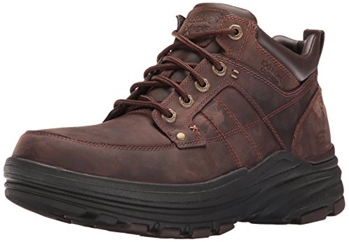 Skechers mens Relaxed Fit Holdren - Lender Chukka Boot, Dark Brown Leather, 12 US