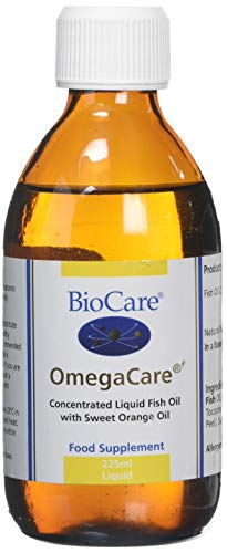 BioCare Omegacare Liquid Fish Oil with Orange, 225 ml