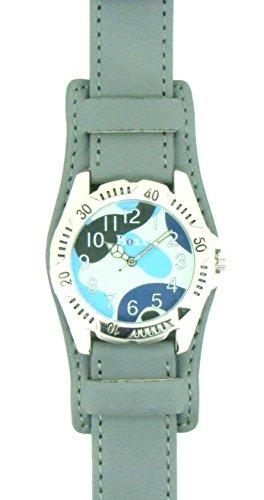 Echt Leder Grau Farbe Military Uhrenarmband 18mm 20mm 22mm und 24mm, grau