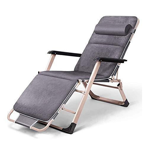 Folding Reclining Chair Zero-Gravity Multi-Purpose Folding Recliner Garden Outdoor Sun Bed Reclining for Family Garden Terrace Beach Chair Deck Chair