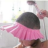 AMOYER sichere Shampoo-Dusche Badeschutz Soft-Kappe für Kleinkind, Baby, Kinder & Kinder des Wasser aus den Augen zu halten & Face (pink)